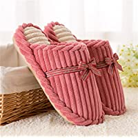mhgao Lady pantofole di cotone, in autunno e inverno Indoor, mute Skid caldo casa pantofole, Pink, S