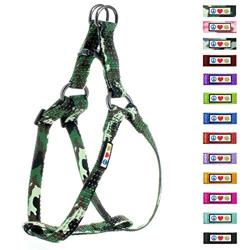 Pawtitas verstellbares, reflektierendes Step-in-Softgeschirr für Welpen / HundeMittel Grüner Camouflage