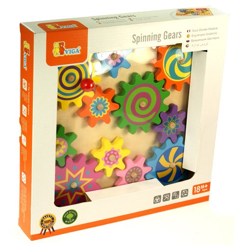 Viga Wooden Spinning Gears & Cogs Childrens Toddler Act