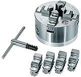 Scheppach Vierbacken-Drehbankfutter 125 mm für Drechselmaschine DM460t, 74007400