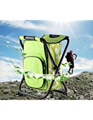 honeysuck al aire libre pesca taburete silla multifuncional plegable bolsa de playa Mochila–Luz Verde