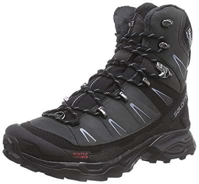 Salomon  X Ultra Winter CS WP, Chaussures de trekking et randonnée femme - Noir - Schwarz (Asphalt/Black/Stone  Blue), 37 1/3