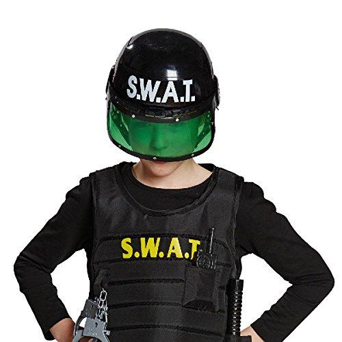 SWAT Helm für Kinder Zubehör zum Polizei Spezialeinheit - Kinder Spezialeinheit Kostüm