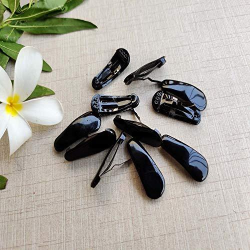 Evogirl Tic Tac Clips Triangular Full Cover Black, 3.5cms, for Women/Girls