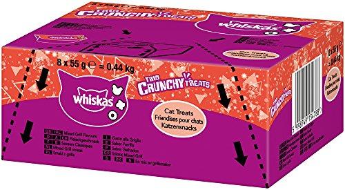 Whiskas Katzensnack Trio Crunchy Fleisch, 8 Packungen (8 x 55 g) (Katze Fleisch)