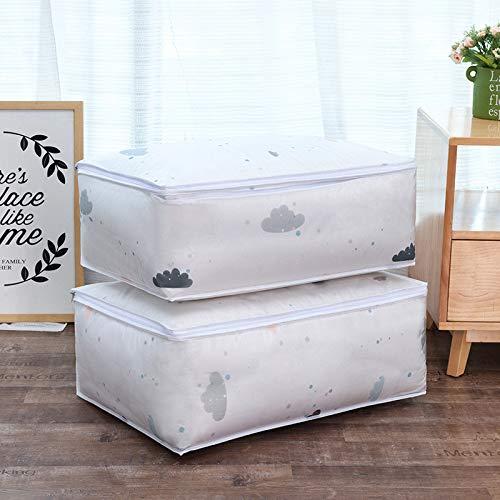 EgBert Quilt-Speicherbeutel Feder Form Form Kleidung Quilt Pillow Blanket Lagerung Körbe Tasche Veranstalter - 1 Teller Quilt