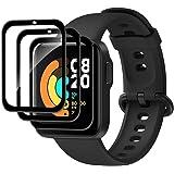 Fitudoos [3 Pack] Protector de Pantalla para XiaoMi Mi Watch Lite,ultrafino, resistente a los arañazos, resistente a los golp