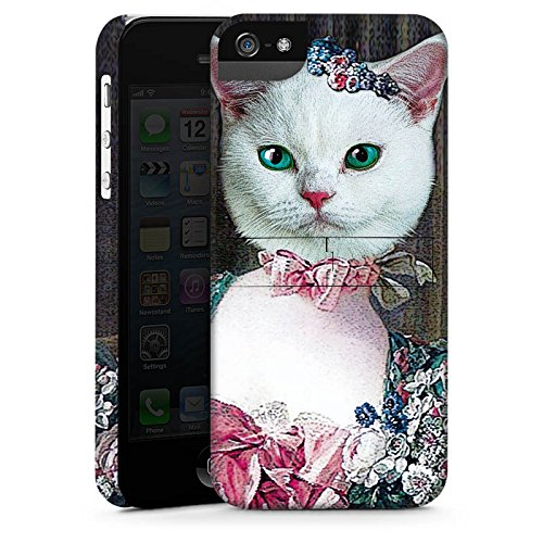 Apple iPhone 4 Housse Étui Silicone Coque Protection Chaton Chat Chat Madame CasStandup blanc