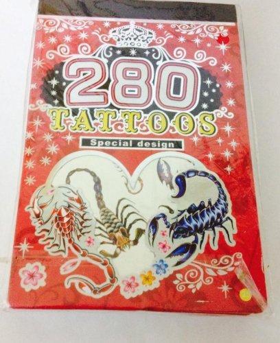 Tätowierung Buch: 280 Spezial Design entfernbar tattoos-scorpions (Tätowierung-design-bücher)