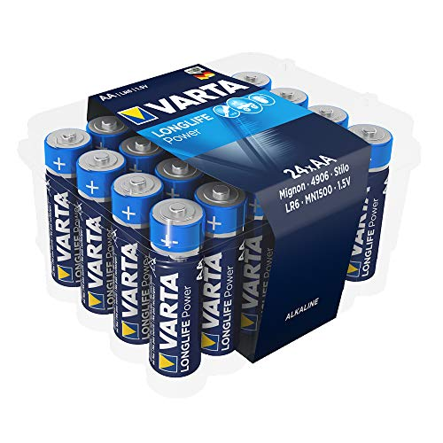 Varta Longlife Power Batterie AA Mignon Alkaline Batterien LR6 - 24er Pack (Design/Produktname kann abweichen)