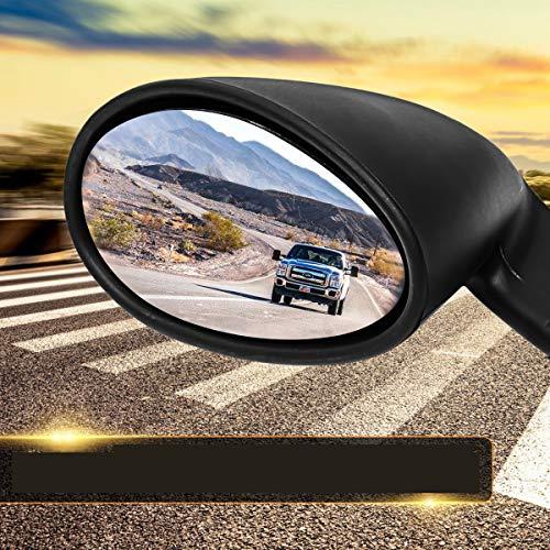 JenNiFer Specchietto Retrovisore Universale per Porta Auto California Style Vintage Nero Opaco L + R
