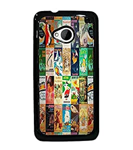 PrintDhaba Books D-2981 Back Case Cover for HTC ONE M7 (Multi-Coloured)