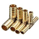 Alamor 6mm 8mm 10mm 12mm Latón T Pieza De 3 Vías De Combustible Manguera De Combustible Conector Para Aceite De Aire Gas-6mm