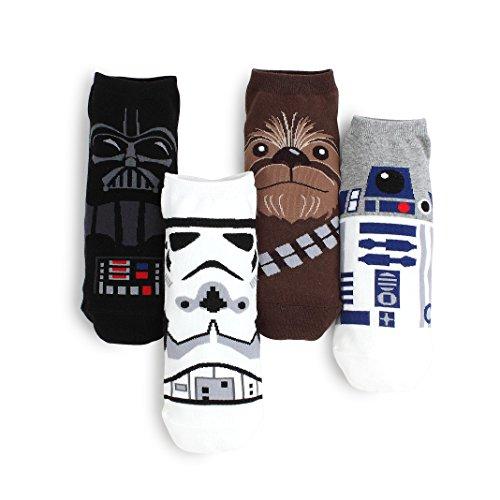 e Socken und INTYPE Pouch(Lowcut (nia) 4 paare) EU 41-43.5 UK 7.5-10 (Star Wars Socken)