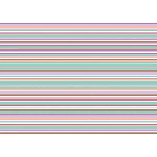Susy Card Geschenkpapier Pastell Stripes, 1 Stück, eingeschweißt, Standardpapier, 2 m