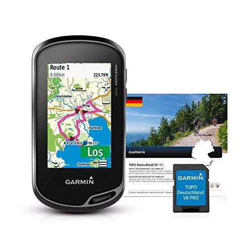Garmin Oregon 700 GPS-Handgerät + TOPO Deutschland V8 PRO - integriertes WLAN, Aktivitätsprofile, Geocaching Live