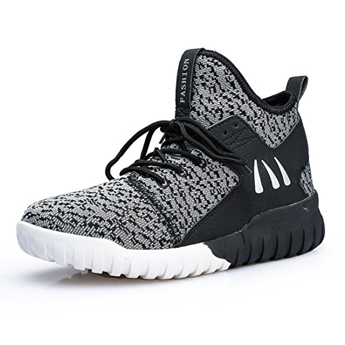 Men's Air Mesh Knitting High Quality Breathable Trainers Shoes M198 dark gray
