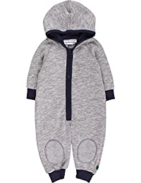 Fred's World by Green Cotton Baby Boys' Melange Sweat Suit Bodysuit