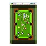 Pool-Billard-Tisch schwarz MAG-NEATO'(TM) S Novelty Gift Locker Kühlschrank Vinyl Puzzle Magnet Set