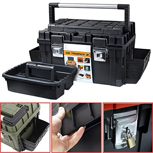 Kunststoff Werkzeugkoffer HD Box Trophy 2 Plus, 80x35,5cm Kasten Werzeugkiste Sortimentskasten Werkzeugkasten Anglerkoffer