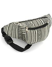 Black and White Stripe Bum Bag
