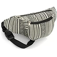 Black and White Stripe Bum Bag