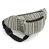 Black and White Stripe Bum Bag Fanny Pack Festivals Holiday Wear