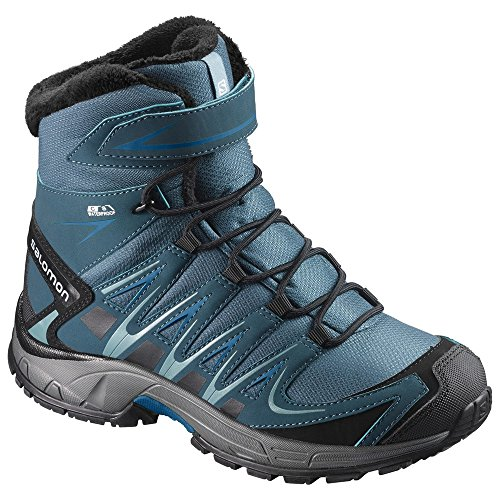 Salomon XA Pro 3D Winter TS CSWP J, Chaussures de Randonnée Hautes Garçon, Turquoise