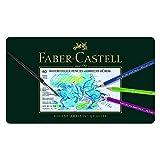 Faber-Castell 117560 Crayons de couleur aquarellables Albrecht Dürer, boîte métal de 60