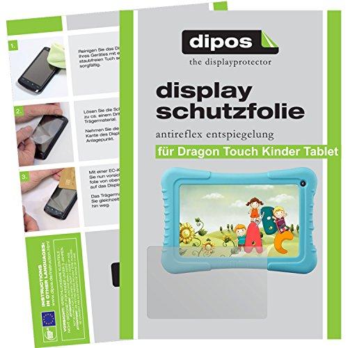 dipos I 2X Schutzfolie matt passend für Dragon Touch 7 Zoll Kinder Tablet Folie Displayschutzfolie