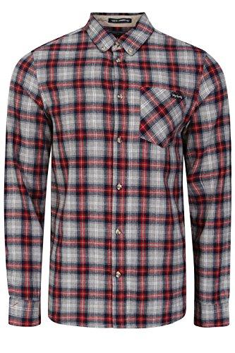 Tokyo Laundry - Chemise casual - Avec boutons - À Carreaux - Col Chemise Classique - Homme Tokyo Red