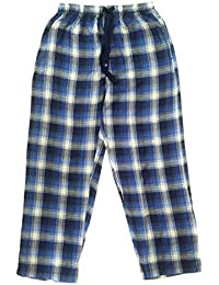 Twist Men's Blue & White Checked 100% Cotton Pyjama Sleepwear Night Wear