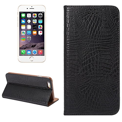 Phone case & Hülle Für IPhone 6 Plus / 6S Plus, Krokodil Textur Magnetische horizontale Flip Leder Tasche mit Halter & Card Slot ( Color : White ) Black