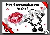 12 - Geburtstagskarte - Geburtstagsküsschen - Postkarte von Sheepworld