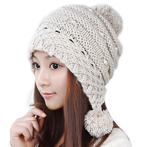 chapeau en laine coréen/ chapeau chaud féminin/Boule mignon de femmes/Casque/Bonnet tricoté B