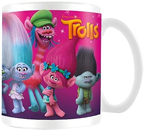 Trolle Figuren Tasse aus Keramik, mehrfarbig