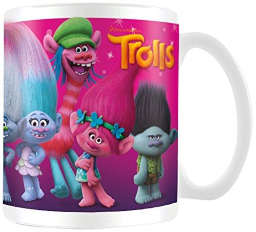Trolls Tasse Characters, Keramik, Mehrfarbig, 7.9 x 11 x 9.3 cm, 2