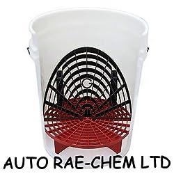 Auto Rae-chem Grit Shield Car Wash Bucket Washboard & Grit Shield Base Insert & Bucket Set