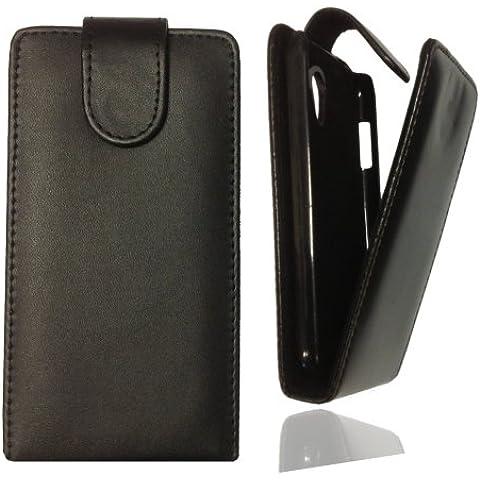 Flip Case Tasche Hülle Etui Handytasche in schwarz für Nokia 225 / 225 Dual inkl. World-of-Technik Touchpen