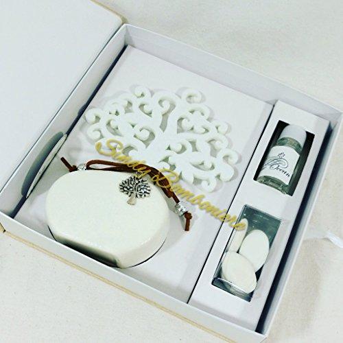 Bomboniera matrimonio diffusore con albero della vita e ciondolo etiemme creations (bomboniera non confezionata)