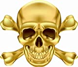 U24 Aufkleber Pirat Totenkopf Gold Autoaufkleber Sticker