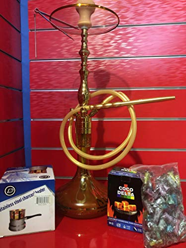 Pack Cachimba SP013+Hornillo 600w+1Kg Carbon+100 Uds