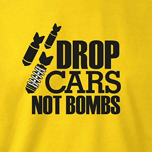 TEXLAB - Drop Cars not Bombs - Herren T-Shirt Schwarz