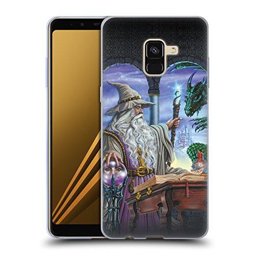 Offizielle Ed Beard Jr Botschafter Drachen Von Dem Zauberer Fantasie Soft Gel Hülle für Samsung Galaxy A8 (2018)