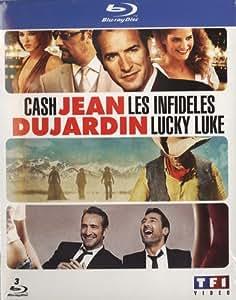 Jean Dujardin - Coffret - Les infidèles + Cash + Lucky Luke [Blu-ray]