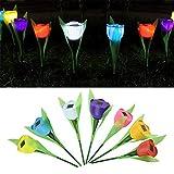 5PCS lampade solari da giardino tulipano LED luce notturna lampada decorativa paesaggio per esterni, giardino, patio, Christmas Gift