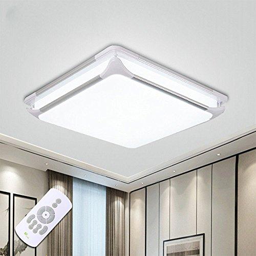 STARRYOL 36W Lámpara de Techo LED, Pantalla de aluminio Plafón LED, Moderno Lámpara De Techo Lámpara De Techo Pasillo Salón Cocina Dormitorio, El ahorro de energía - Control remoto