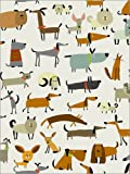Poster 100 x 130 cm: Hunderassen in Allen Formen von Kidz Collection/Editors Choice - Hochwertiger Kunstdruck, Neues Kunstposter