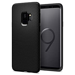 Spigen Galaxy S9 Case [Liquid Air] Slim Protection Original Design Ergonimic Grip Flexible TPU Galaxy S9 (2018) Cover – 592CS22833 [Black]
