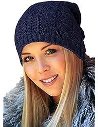 TRAC-2x - oversized Beanie Strickmütze Long Beanie Wollmütze Mütze Wintermütze Herrenmütze Skimütze Snowboardmütze Damenmütze Slouch grau dunkelgrau navy natur weiss